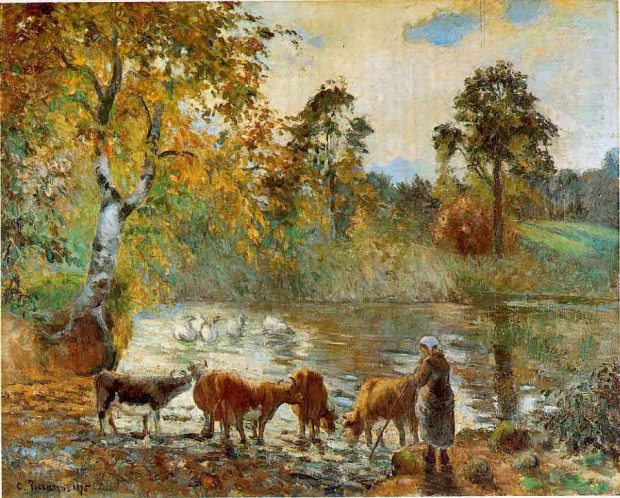 pissarro-the-pond-at-montfoucault-1875-oil-on-canvas-barber-institute-of-fine-arts-birmingham-uk