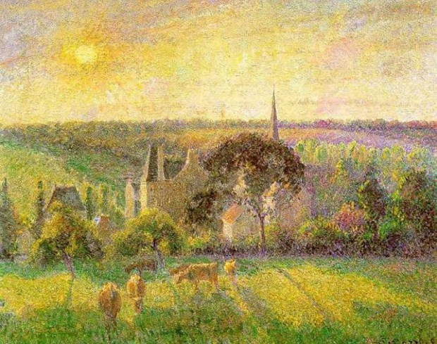 Pissaro-Countryside & Eragny church and farm