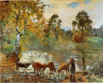 Pissarro- - The Pond at Montfoucault. 1875. Oil on canvas. Barber Institute of Fine Arts, Birmingham, UK copie