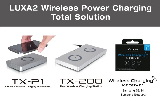 LUXA2's Total Wireless Charging Solution – Unveiled Wireless Charging Receivers for Samsung S3,4 and Note 2,3