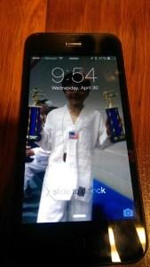 iPhone Screen Scratch On