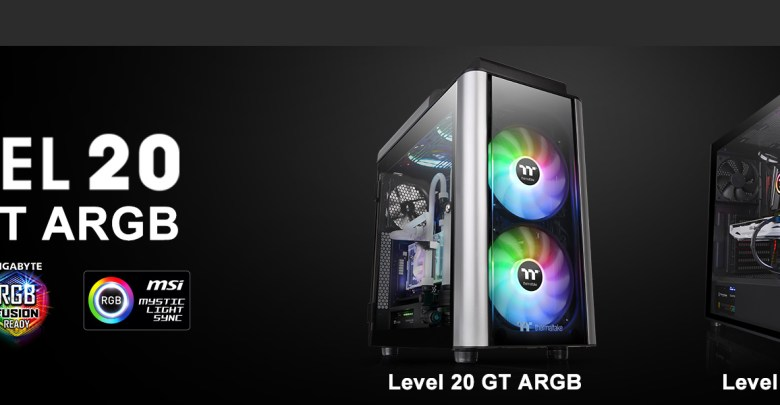 Thermaltake New Level 20 MT ARGB Mid-Tower Chassis and Level 20 GT