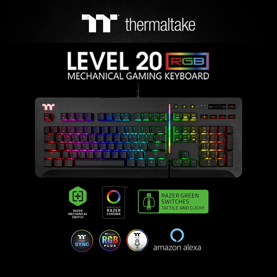 f284ea17aa9 Thermaltake Gaming Unleashes New Level 20 RGB Gaming Keyboard at CES 2019 -  Cerebral-Overload