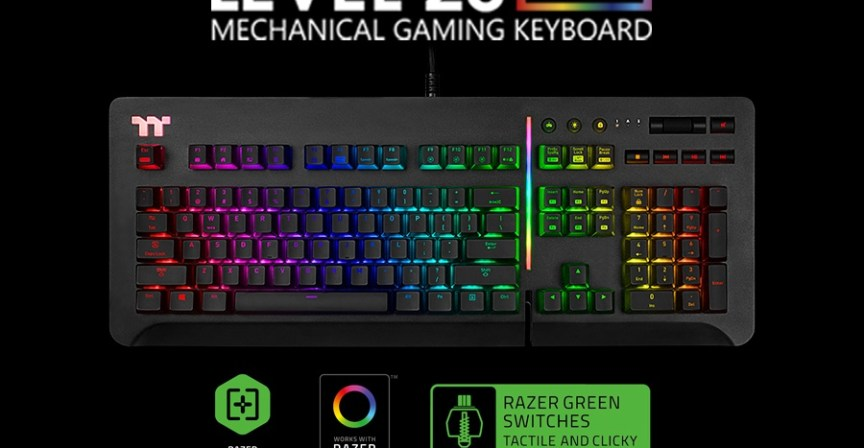 526956d2981 Las Vegas, United States -January 10th , 2019-Thermaltake, celebrates their  20th anniversary by announcing the new Thermaltake Gaming Level 20 RGB  Gaming ...