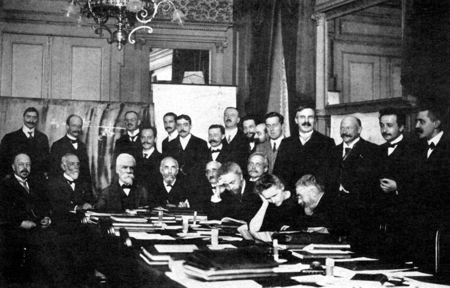 Conferencia en Solvay de Física.