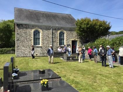 Ceredigion Historical Society visits Salem Chapel Llanrhystud