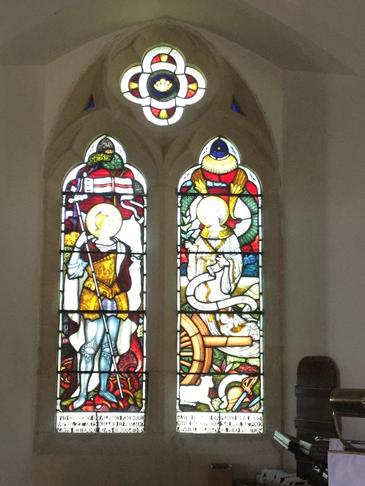 Llanrhystud Church stained glass window
