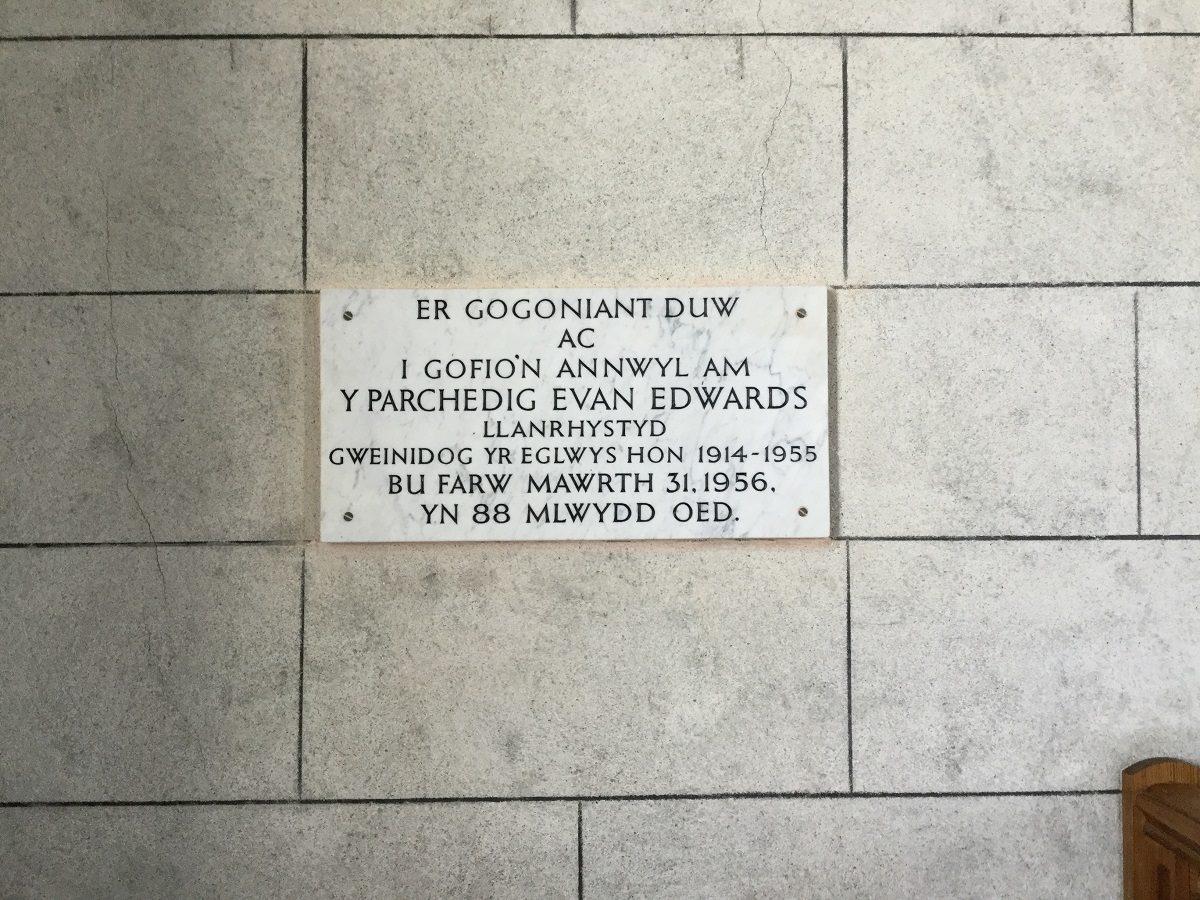 Salem Chapel plaque Llanrhystud