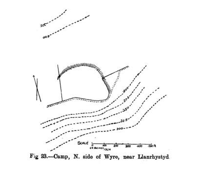 Site plan of Camp North side of Wyre near Llanrhystyd