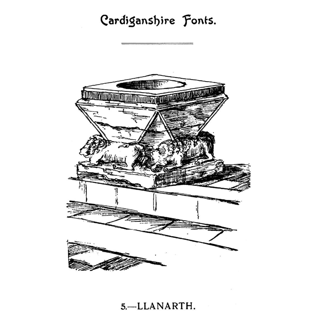 Cardiganshire Fonts - Llanarth