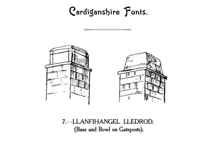 Cardiganshire Fonts - Llanfihangel Lledrod