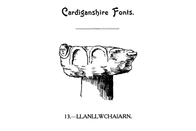 Cardiganshire Fonts - Llanllwchaiarn