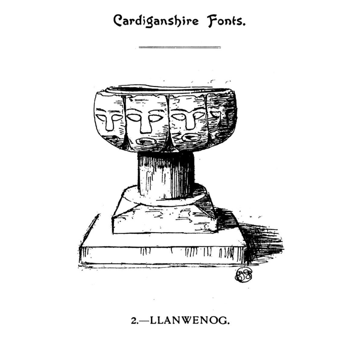 Cardiganshire Fonts - Llanwenog
