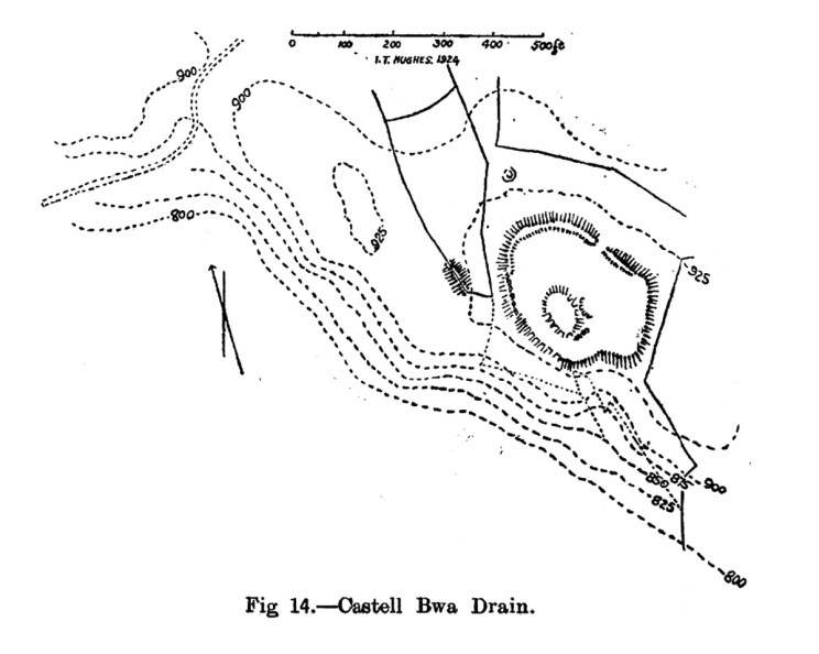 Site plan Castell Bwa Drain