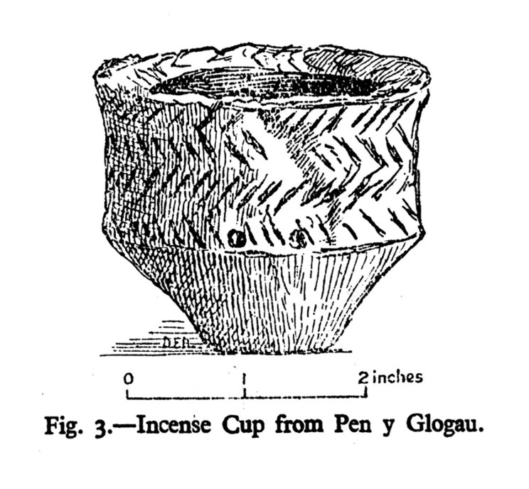Incense Cup from Pen y Glogau