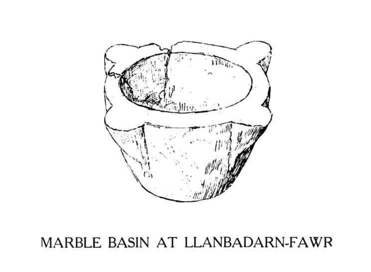Marble basin at Llanbadarn-Fawr