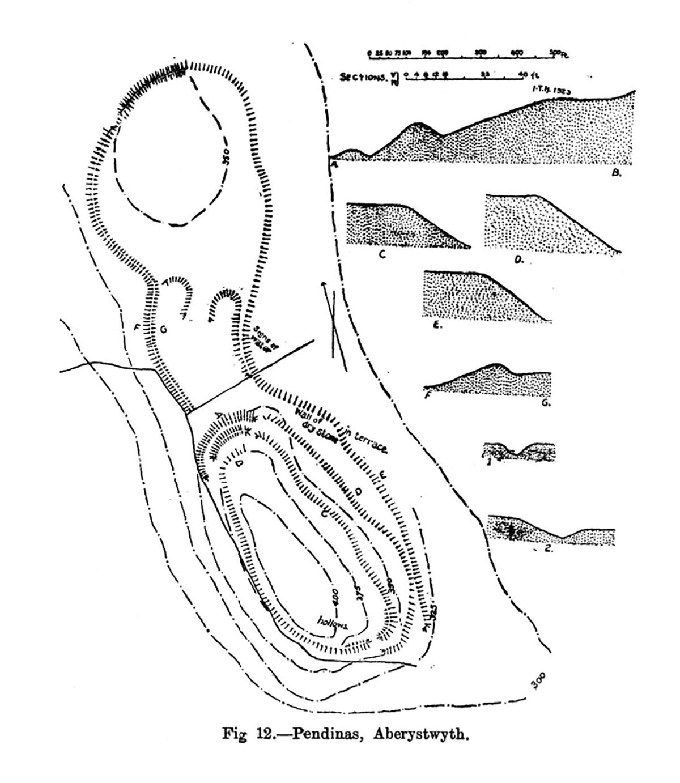 Site plan Pendinas Aberystwyth