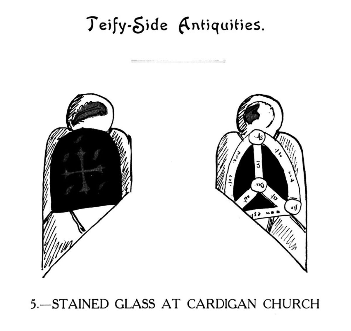 Hynafiaethau Teify-Side - Gwydr Lliw yn Eglwys Aberteifi