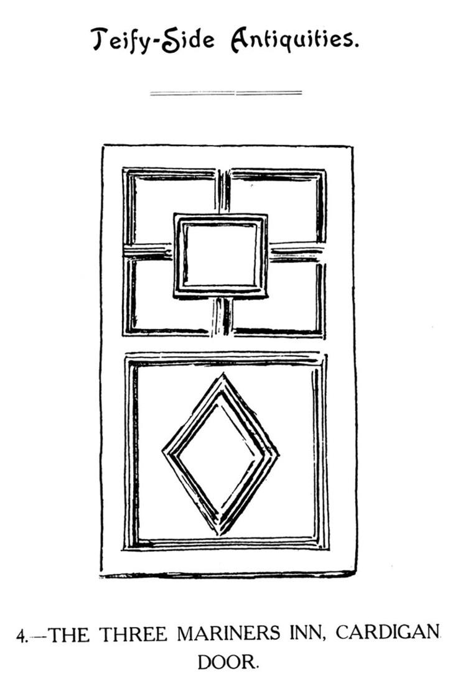 Teify-Side Antiquities - The Three Mariners Inn, Cardigan Door