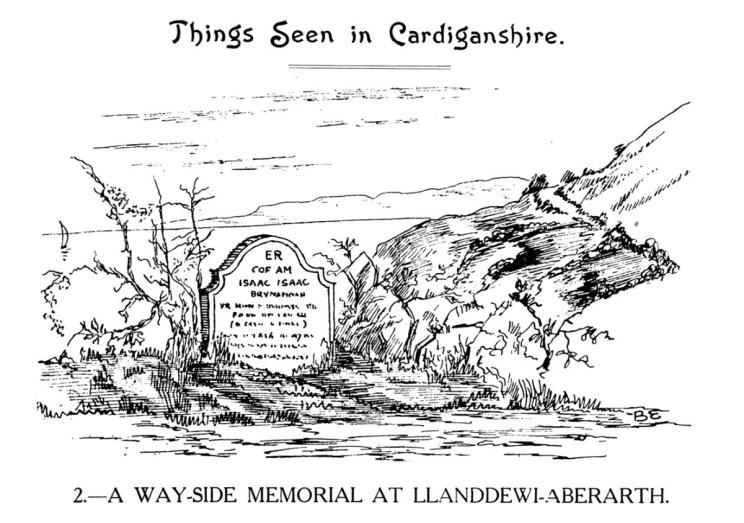 Things Seen in Cardiganshire - A Way-side Memorial at Llanddewi-Aberarth