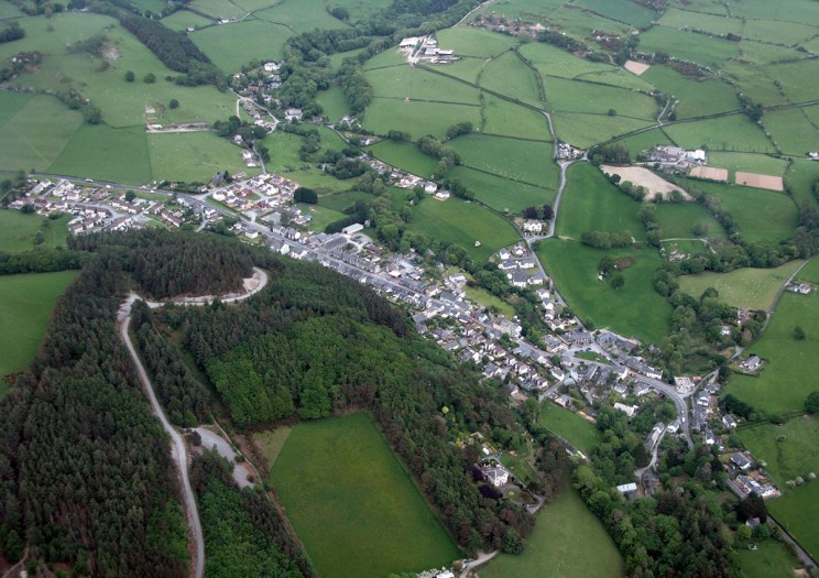 Aerial view of historic Talybont - Discover the archaeology, antiquities and history of Ceredigion