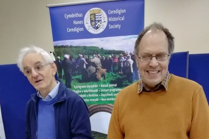 Ceredigion Historical Society stand at Dyfed Archaeology day