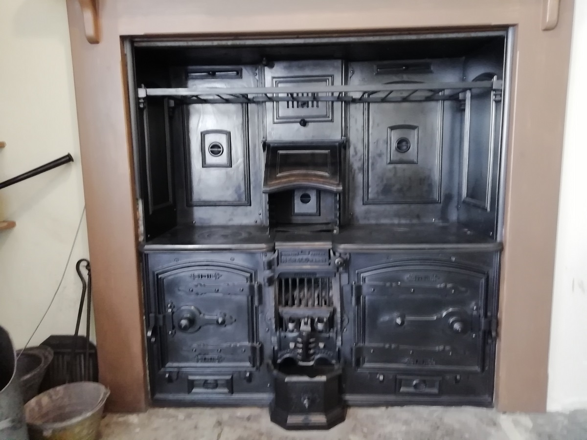 Victorian oven in the service kitchen at Llanerchaeron