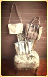 2 in one net romantic bag - White and Pale brown - Other colours available on request