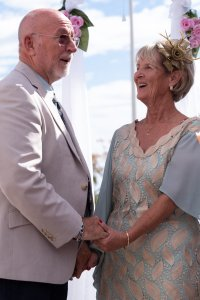 Mary & Mike enjoyed a rose exchange ceremony