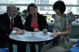 Professor Steven N. Blair, Postdoktor Linda Ernstsen og Førsteamanuensis Mei Sui