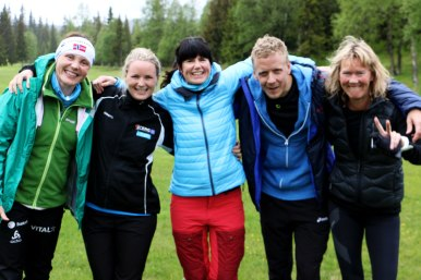 Kirsti, Sandra, Trine, Bjarne og Inger-Lise