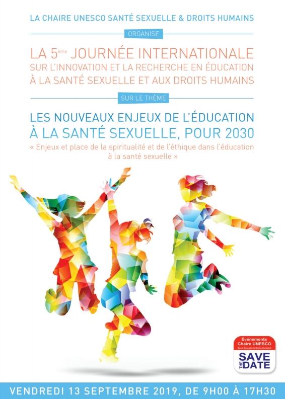 """5ème Journée Internationale de Santé sexuelle et Droits Humains de la Chaire UNESCO : """"Les nouveaux enjeux de l'éducation à la santé sexuelle"""" !"""