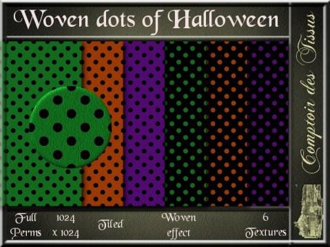 Woven dots of Halloween SL Add