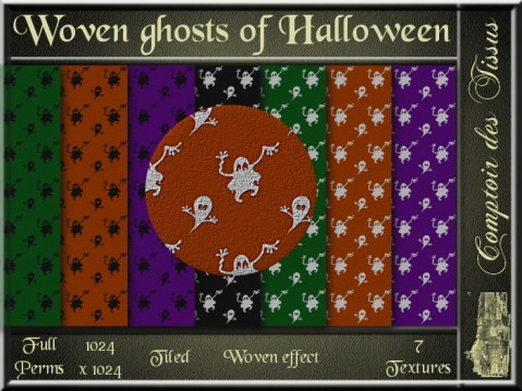Woven ghosts of Halloween SL Add