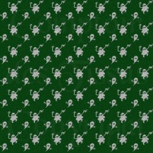Woven ghosts - White on green s