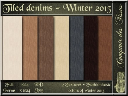 Denim - Colors of winter 2013 Basics SL Add