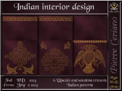Indian interior design - 6 FULL PERMS Textures
