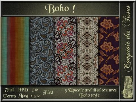 Boho - 5 FULL PERMS Textures