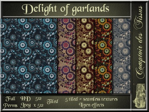 Delight of garlands - 5 FULL PERMS Textures