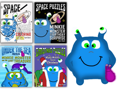 Minkie Monster Puzzle Books for Preschool