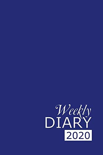 Weekly Diary 2020: Blue Weekly Diary for 2020, Week to View (January to December) Planner (6×9 inch) (Clark Diaries & Journals)