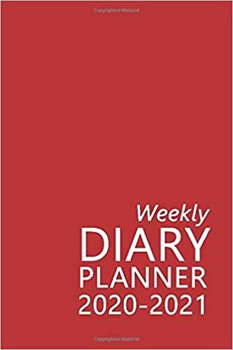 Weekly Diary Planner 2020-2021: The 16 Month Red Mini Large Print Diary for 2020-2021, Week to View (September 2020 to December 2021) Planner (4×6 inch) (Large Print Mini Diaries 2020-2021)
