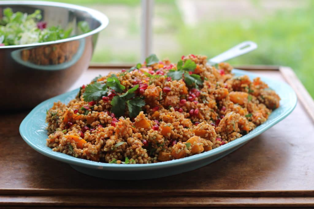 Squash and Buckwheat Rose Harissa Salad, Natural Kitchen Adventures, Gluten Free & Vegan