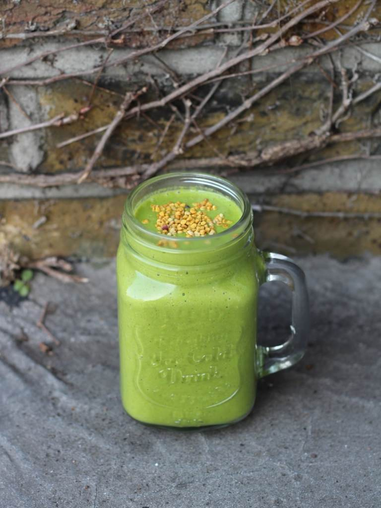 Green Smoothie Healthy Vegan Breakfast Orange Kale