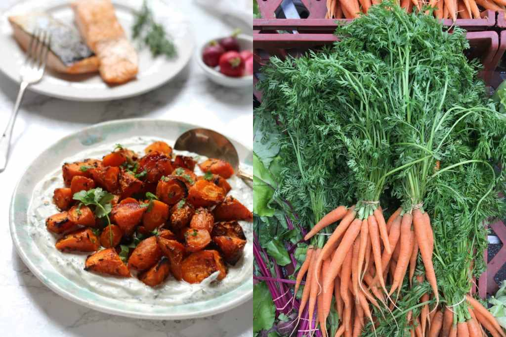 Sweet Roasted Carrots Dill Tahini Dressing | Natural Kitchen Adventures