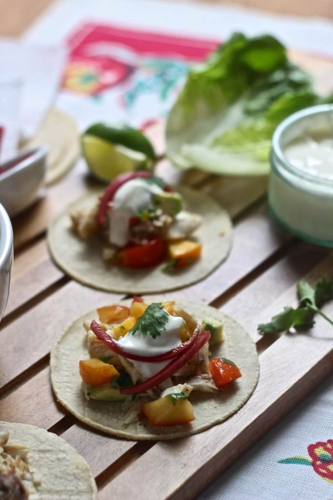 Fish Tacos with Peach Salsa | Natural Kitchen Adventures | Healthy, Gluten Free, Fish, Quick weeknight supper