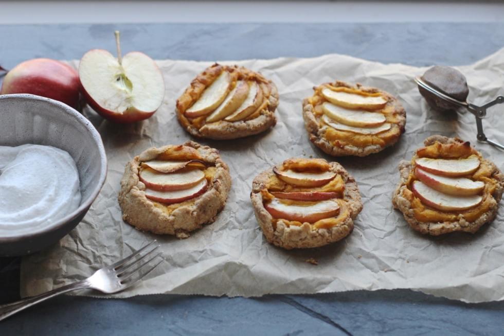 Apple & Squash Hazelnut Pastry Galette | Natural Kitchen Adventures | Gluten Free, Vegan, Dairy Free, Autumn, Halloween