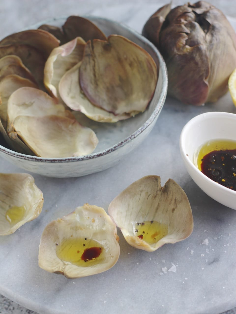 Globe Artichoke with Balsamic Dip, a tribute to Coriander Queen | Natural Kitchen Adventures