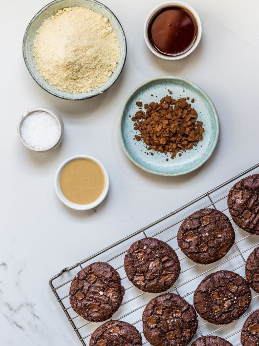 Salted Chocolate Tahini Cookies {Vegan & Gluten Free}