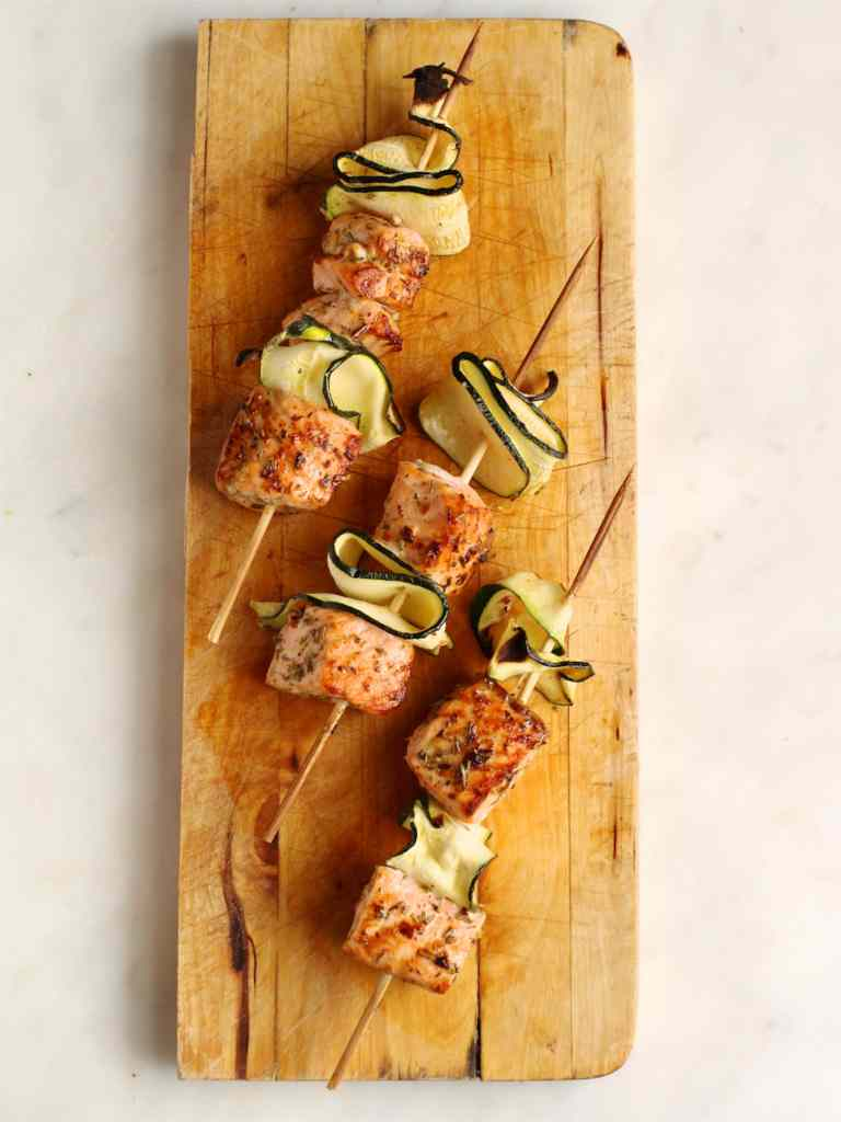 Salmon and Courgette Skewers   Natural Kitchen Adventures